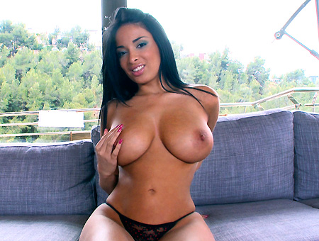 Beautiful big tits on this Euro girl are perfect